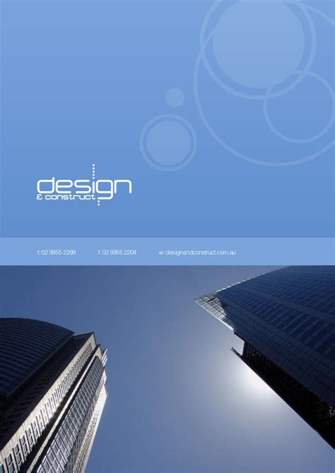 company profile design for construction design construct company profile