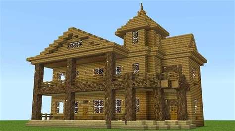 building a mansion minecraft how to build a huge wooden mansion youtube