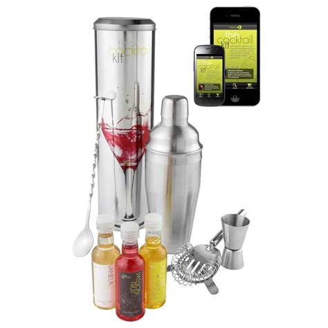 Bar Accessories Gifts Cocktail Mixing Kit With Recipe App Buy From Prezzybox