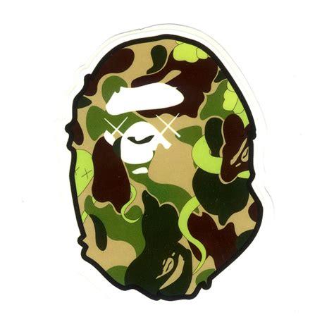 Bape Big Logo By Bathing Ape Camo a bathing ape camo xx bape 8x6cm decal glossy surface vinyl sticker 1104 ebay