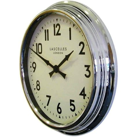 designer clocks designer chrome wall clock 60cm