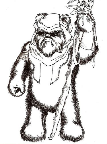 ewok coloring pages free coloring pages of wars ewok