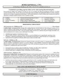 accounting resume cover letter sle resume for - Accounting Resume Sles