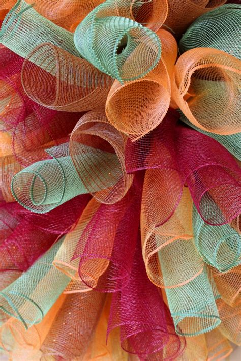 curly deco mesh wreath  kopy kat