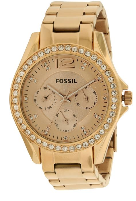 Fossil Kulit Rosegold fossil multifunction gold es2811