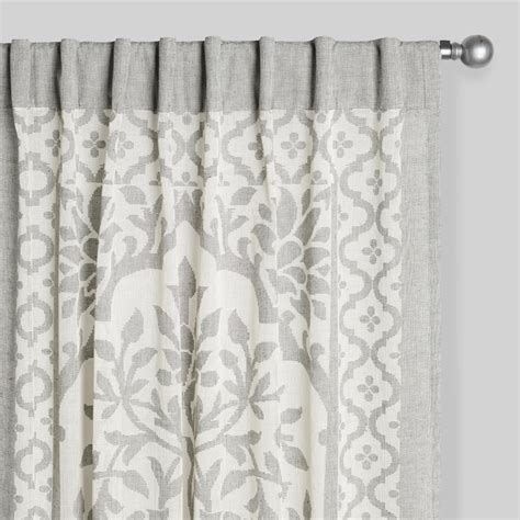 grey and ivory curtains gray and ivory sheer cutwork leno curtains set of 2