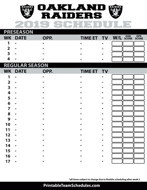 Oakland A S 2017 Printable Schedule