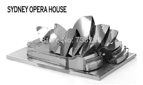 design works 3d home kit australia sydney opera house miniature 3d metal model