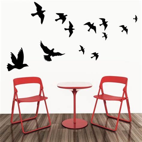 muurstickers voor woonkamer bol vliegende vogels muursticker vinyl