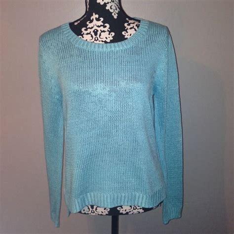 light blue sleeve sweater light blue f21 sweater with sleeves light blue f21