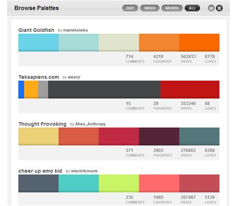 web design colors fonts private practice launcher color schemes 28 images midnight winter color palette
