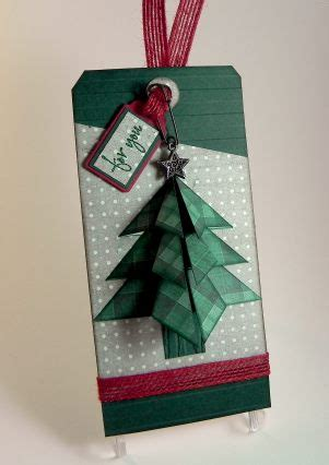 tea bag fold christmas tree tag i played with paper today