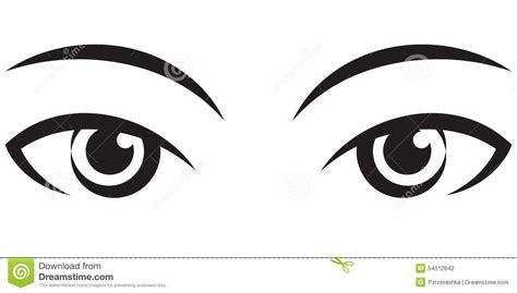 clipart occhi yeux expressifs femelles de paires graphisme de vecteur