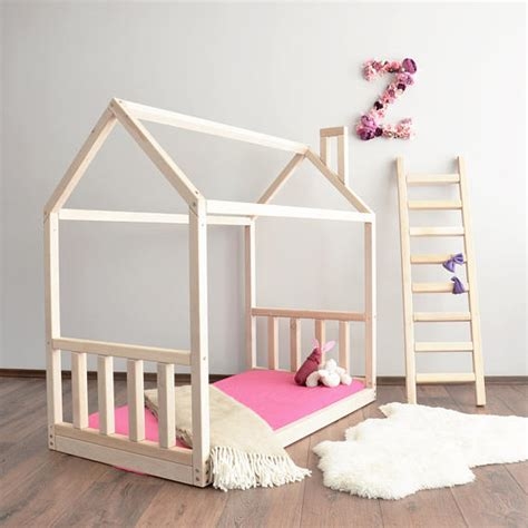 Crib Bed Frame House Bed Frame Toddler Bed Montessori Baby Bed Crib Size
