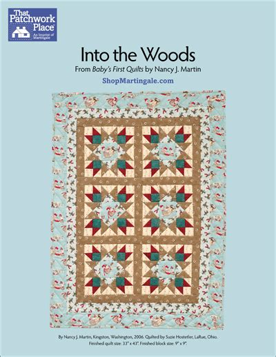 Into The Woods Quilt Pattern by Martingale Into The Woods Quilt Epattern