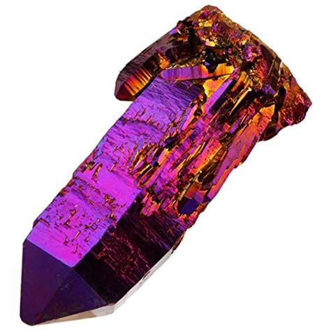 rockcloud natural titanium coated purplegold flame aura