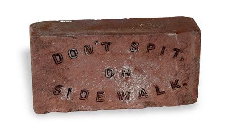 don t spit on the floor don t spit on sidewalk brick kansapedia kansas