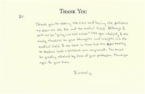thank you letter to a doctor from a student thank you card best thank you cards for doctors words of