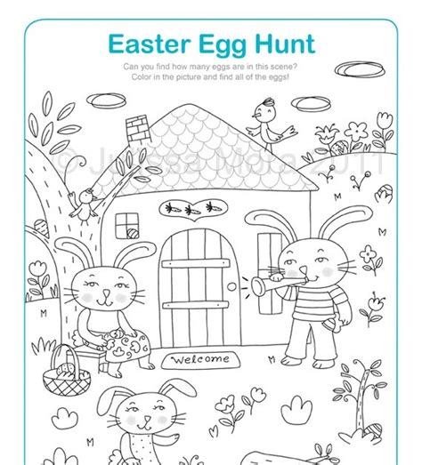coloring pages easter egg hunt penguin s gift easter egg hunt coloring printable