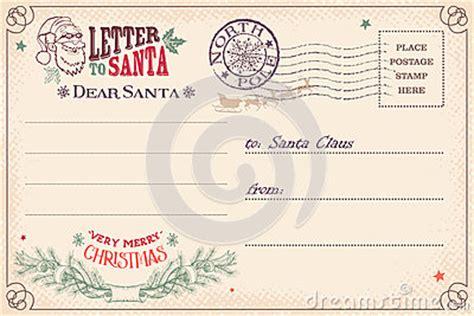 vintage letter  santa claus postcard stock vector image