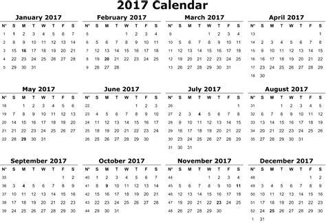 Calendar Images 2017 Calendar