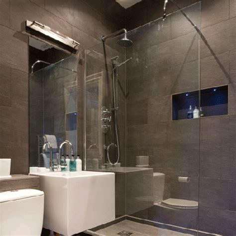 slate tile bathroom shower design ideas home trendy badkamer inloopdouche interieur inrichting