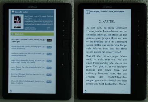 bücher sortieren testbericht trekstor ebook reader 3 0 papierlos lesen