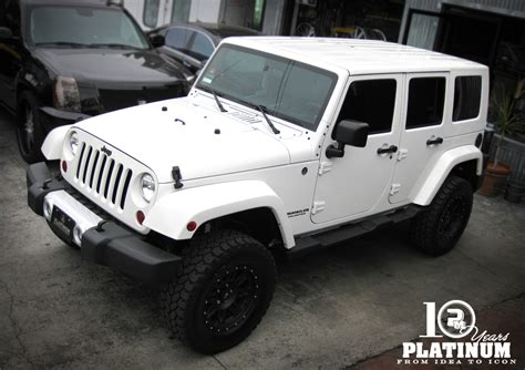 jeep sahara white snow white jeep sahara unlimited x platinum motorsport