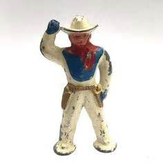 Figure Led Foots Heckbilly timpo lead soldier figure cfire singing cowboys britains johillco led indian and