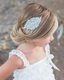 bridal hairstyles for children girls kids wedding bohemia crystal rhinestone beads