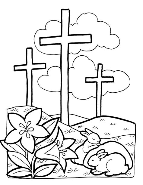 Preschool Coloring Pages Easter Religious | coloring pages coloring pages easter cross designs canvas