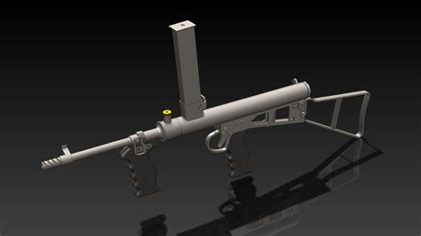 solidworks tutorial gun owen gun mark 1 1943 step iges stl solidworks 3d