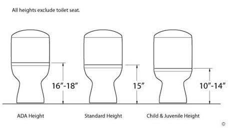standard toilet height vs comfort height consumers map toilet testing