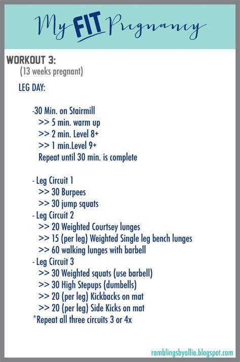second trimester workout pregnancy leg workout