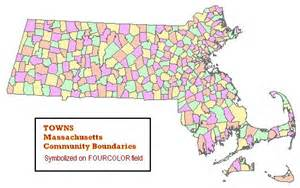 Map Of Massachusetts Cities And Towns by Massgis Data Community Boundaries Towns
