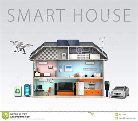 smart house smart house with energy efficient appliances stock