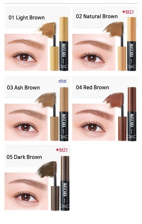 100 Original My Brows Color Eyebrow Mascara Etude House aritaum idol brow mascara ibuybeauti