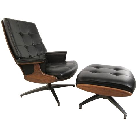 swivel chair ottoman heywood wakefield swivel lounge chair with ottoman at 1stdibs