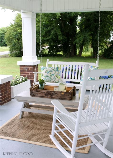 front porch swings ideas keeping it cozy the front porch