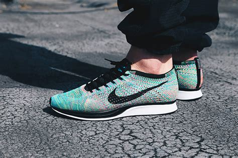 Nike Flynit Racer 2 rainbow bright a closer look at the nike flyknit racer multi 2 0 the drop date