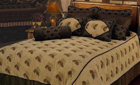 the country store comforters adirondack country store pine cone bedding