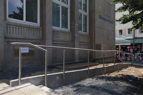 deutsche bank hildesheim edelstahlgel 228 nder f 252 r eine behindertenre f 252 r die