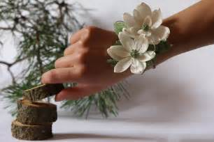 How To Make Wrist Corsage Wedding Corsage Corsage Paper Flower Mothers Corsage Bridal