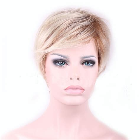 free shipping cool pixie cut blonde pixie wig reviews online shopping blonde pixie