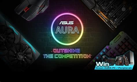asus aura compatible fans win an asus aura inspired dream pc by entering this