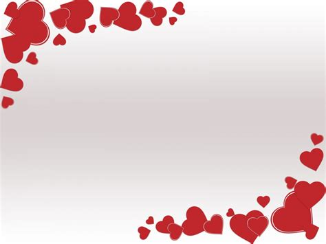 grunge valentine day ppt backgrounds love red white