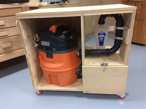 vacuum system for woodworking shop dust deputy shop vac cart dust collection