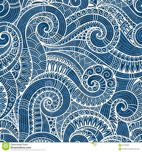 tribal pattern doodles seamless asian ethnic floral retro doodle background