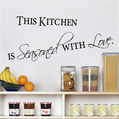 home decor wall posters aliexpress com buy love kitchen quotes wall stickers