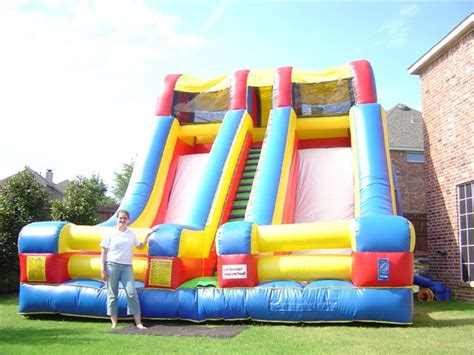 rent a jump house water slide rentals dallas giant slides for rent in dallas